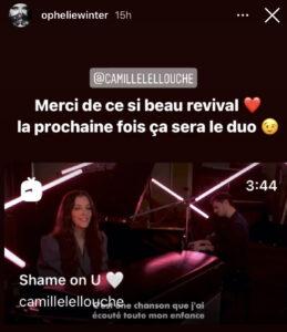 """Ophélie Winter répond à Camille Lellouche sur sa Story Instagram """"Shame On You"""""""