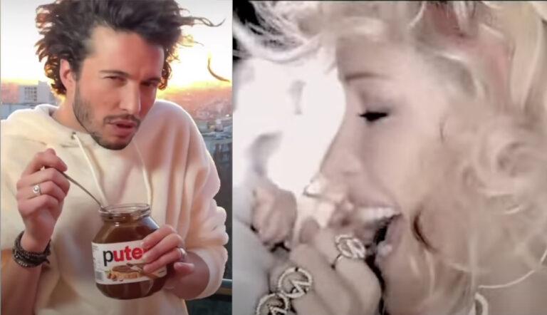 Ophélie Winter avec la vidéo Tiktok de @michaelaugustok sur le Nutella et Sache